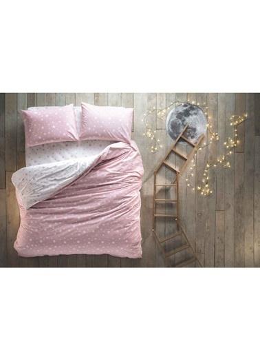 Hibboux 200x220 Star Nevresim + Yastık Kılıfı - Rose Renkli